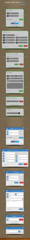 Clean web forms vol.5 - Forms Web Elements