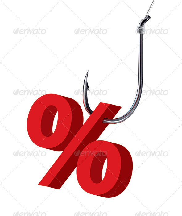 Percent Sign on the Hook - Man-made Objects Objects