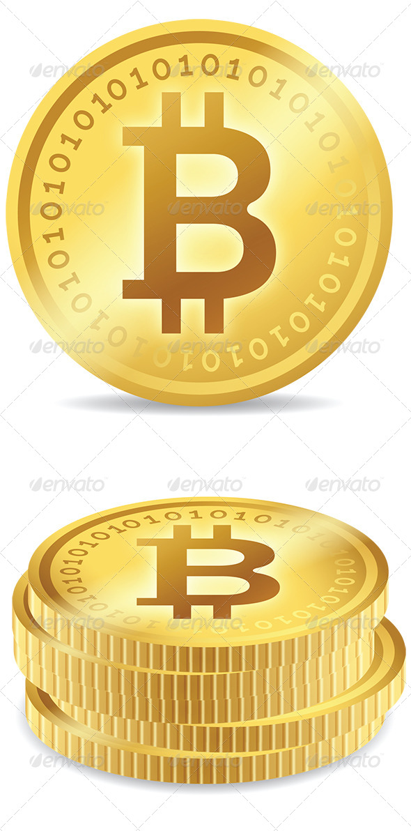 Bitcoin Digital Currency - Business Icons
