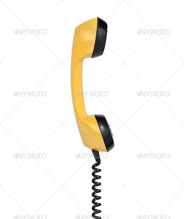Handset of Vintage Telephone - Man-made Objects Objects