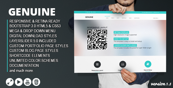 Genuine – Multi Purpose HTML5 Creative Template