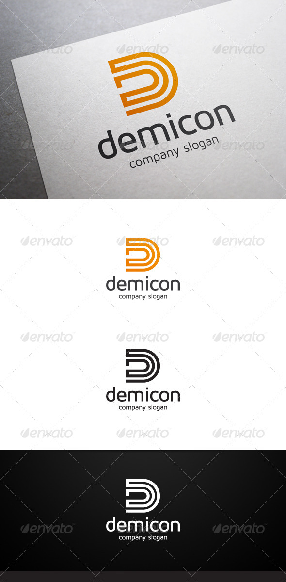 Demicon D Letter Logo V2 - Letters Logo Templates