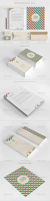 Retro Stationary - Stationery Print Templates