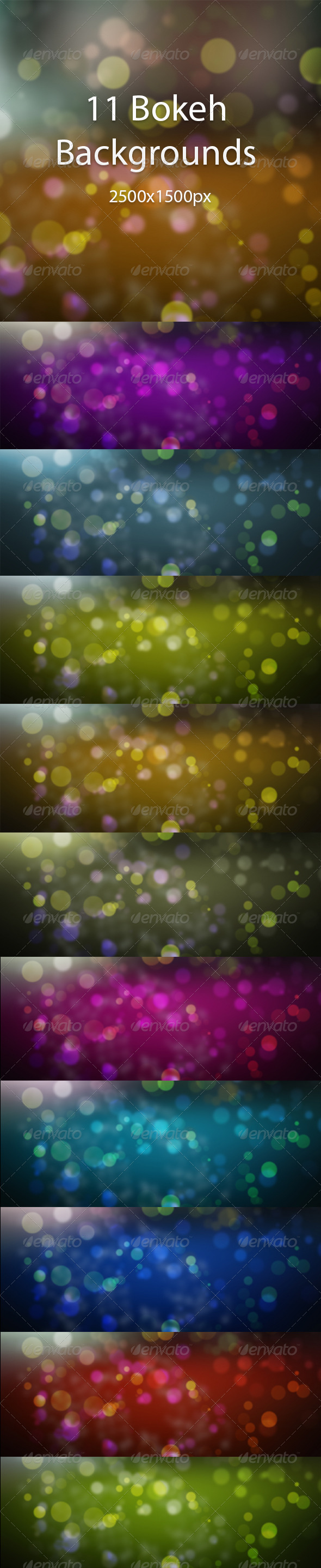 Bokeh Background Pack  - Backgrounds Graphics