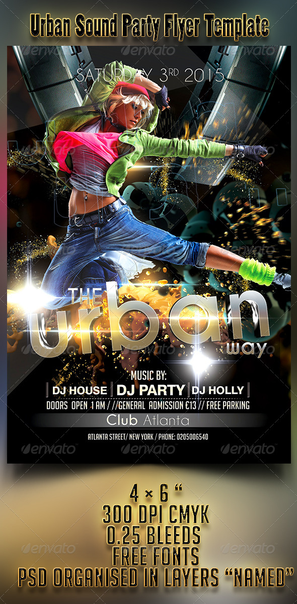 Urban Sound Party Flyer Template - Events Flyers