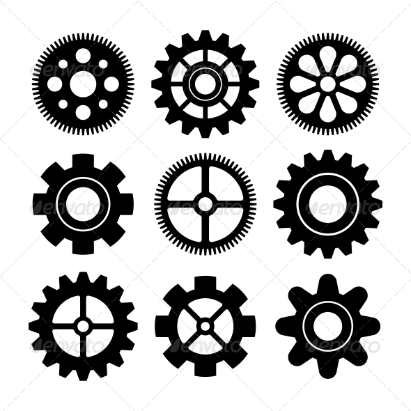 Gears - Web Elements Vectors