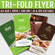 Multi Purpose Tri-Fold Menu Card - GraphicRiver Item for Sale