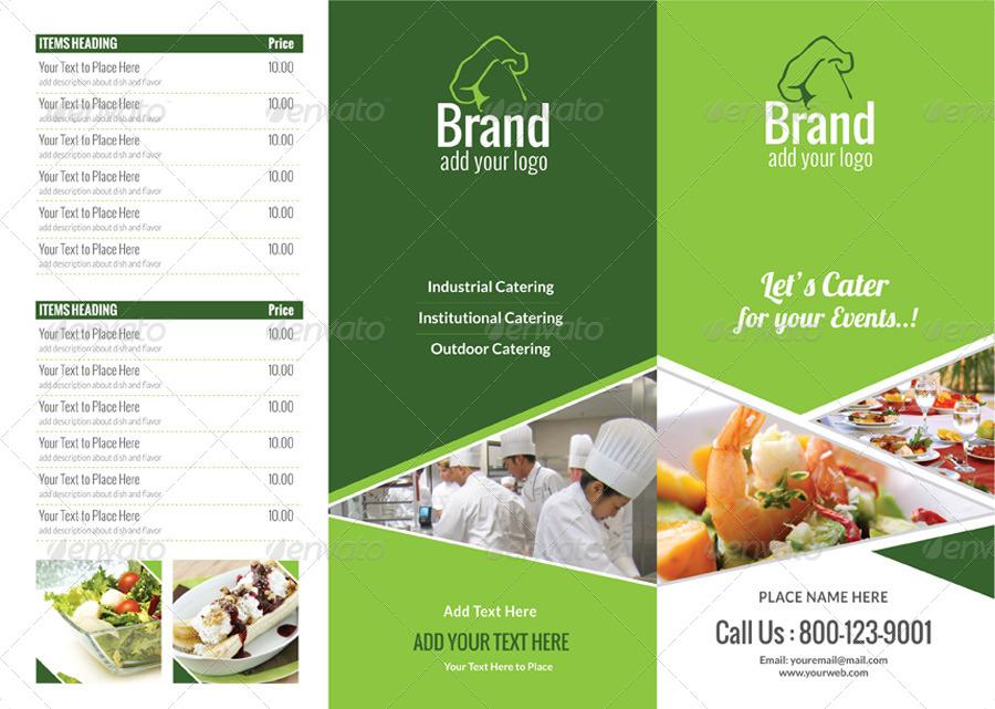 multi purpose tri fold menu card