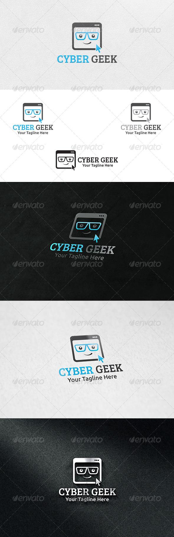 Cyber Geek - Logo Template - Humans Logo Templates