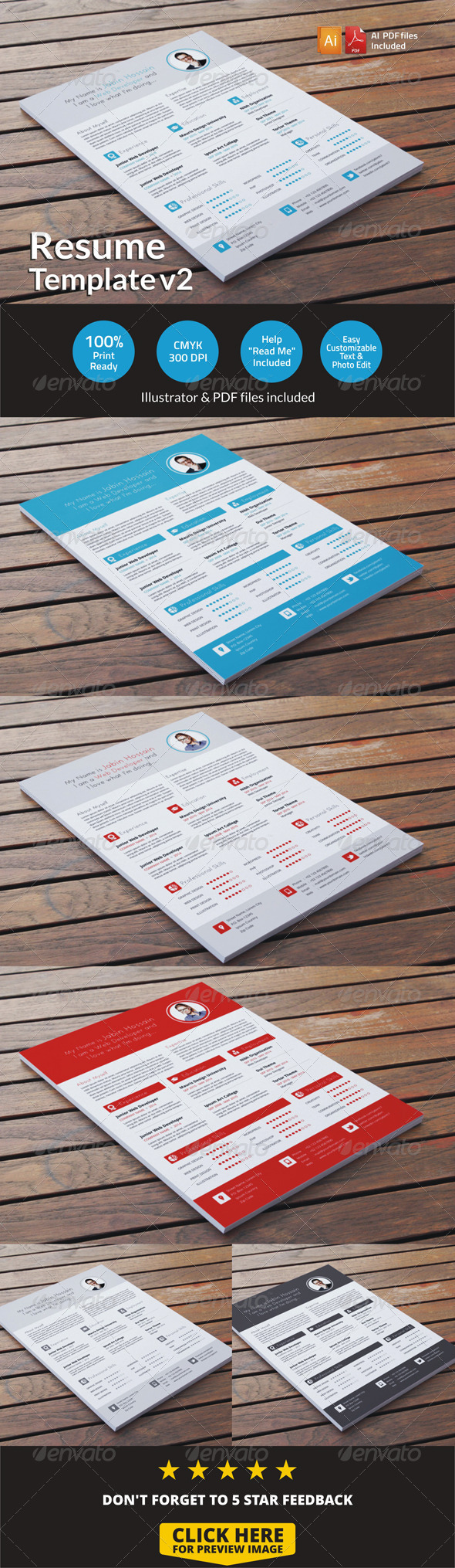 Resume Template v2 - Resumes Stationery