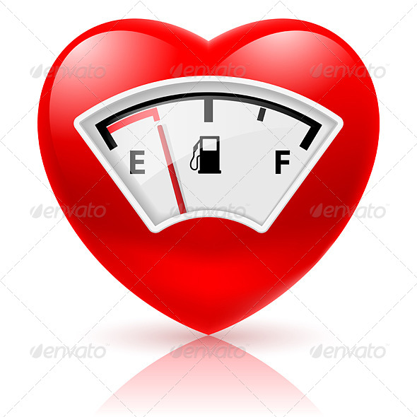 Heart with Fuel Indicator - Miscellaneous Vectors