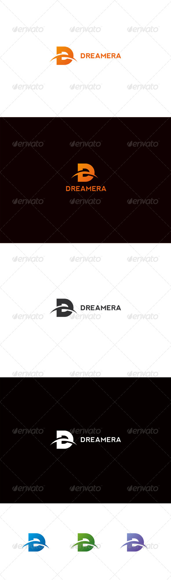 Dreamera | D Letter Logo - Letters Logo Templates