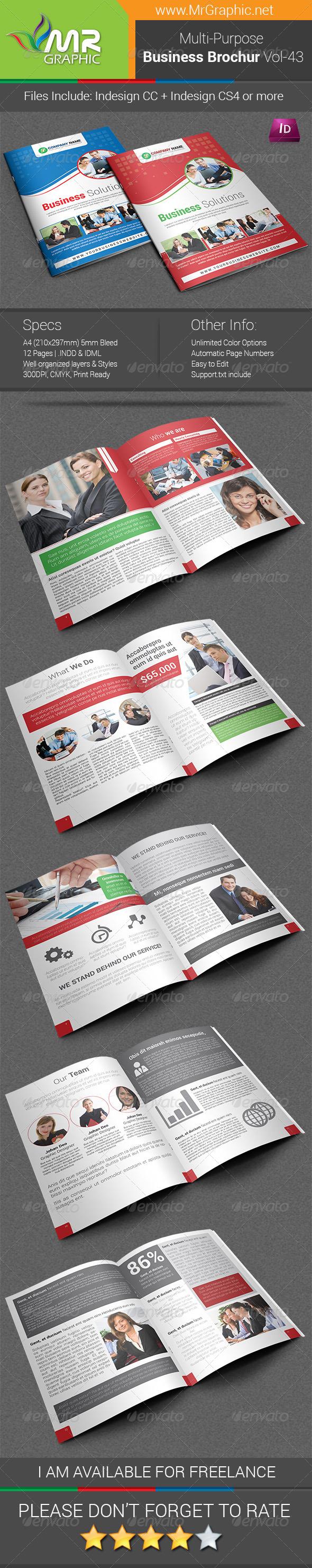 Multipurpose Business Brochure Template Vol-43 - Corporate Brochures