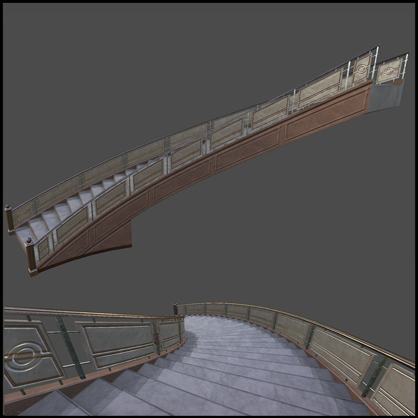 Luxurious Staircase - 3DOcean Item for Sale