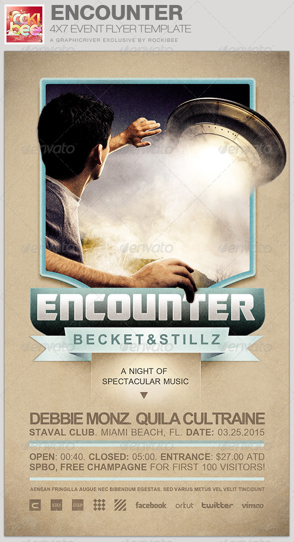 Encounter Event Flyer Template - Events Flyers