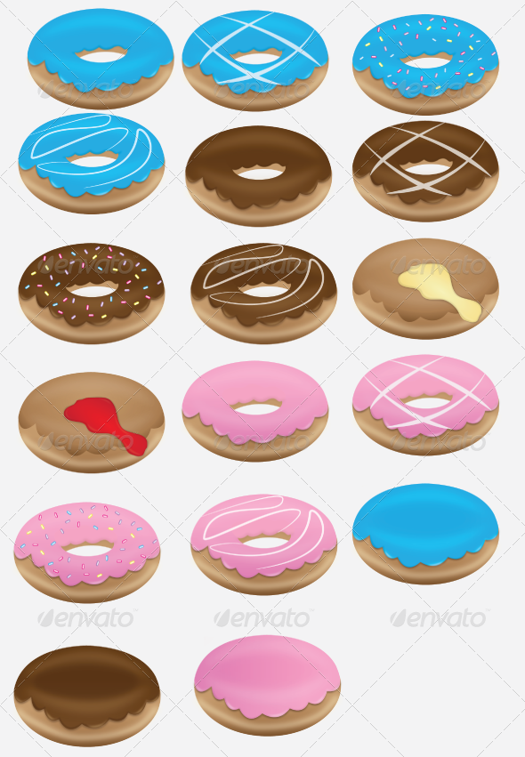 Doughnut Collection Set - Food Objects