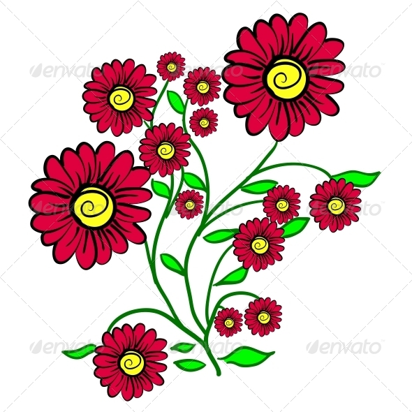 Background with a Flower - Web Elements Vectors