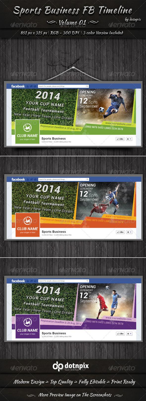 Sports Business FB Timeline | Volume 1 - Facebook Timeline Covers Social Media