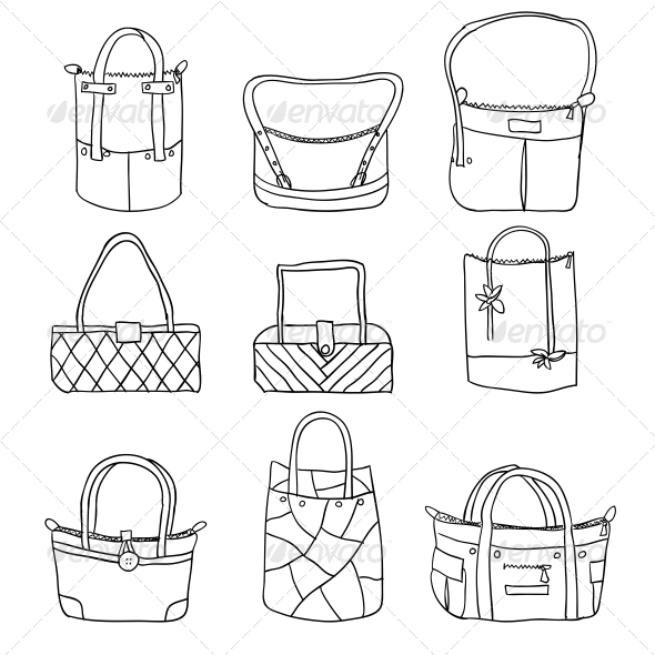 Collection of Women's Accessories - Web Elements Vectors