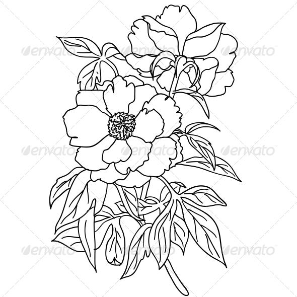 Bouquet of Flowers - Web Elements Vectors