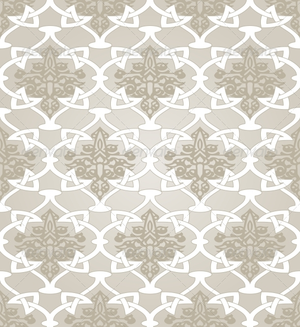 Seamless  in Mosaic Ethnic Style - Patterns Decorative