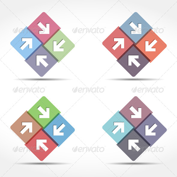 Abstract Emblem with Arrows - Miscellaneous Vectors