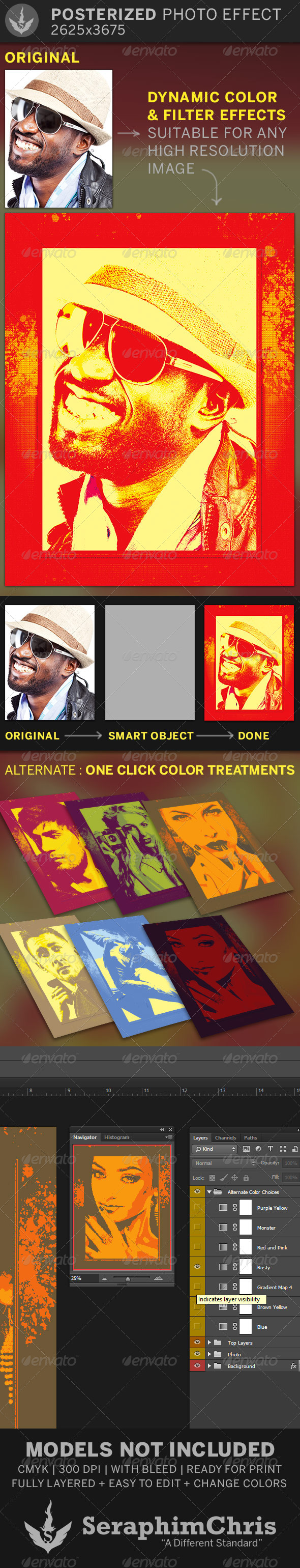 Posterized Photo Effect Template - Artistic Photo Templates