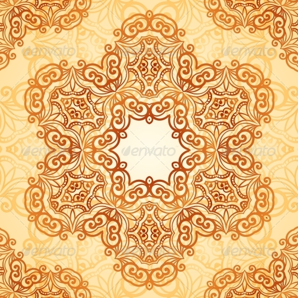 Ornate Vintage Seamless Pattern in Mehndi Style - Patterns Decorative