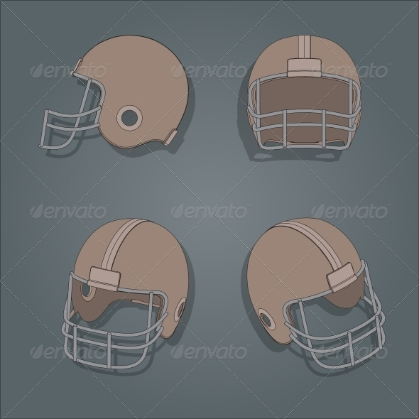 American Football Helmet - Sports/Activity Conceptual