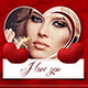 Valentine's Day Facebook Cover Theme - GraphicRiver Item for Sale
