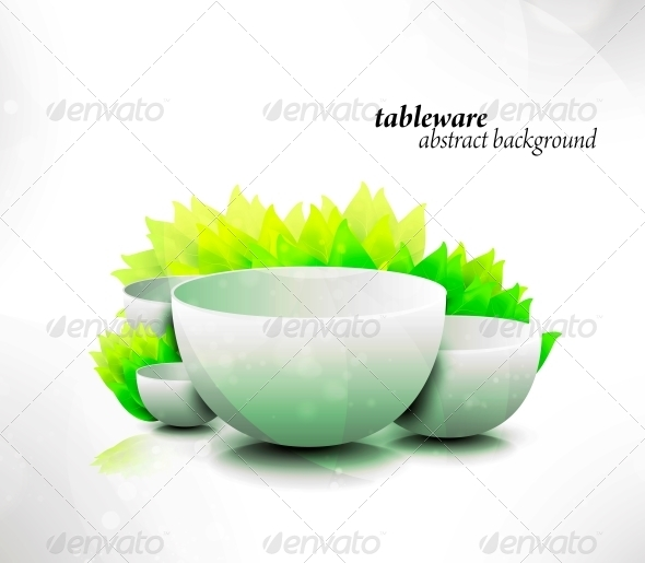 Abstract Tableware - Seasons Nature