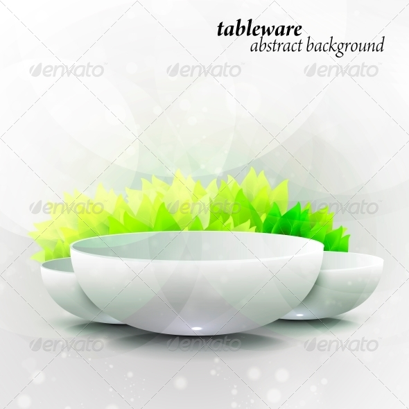 Abstract Tableware - Seasons Nature