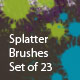 Splatters (set of 23 Photoshop brushes) - GraphicRiver Item for Sale