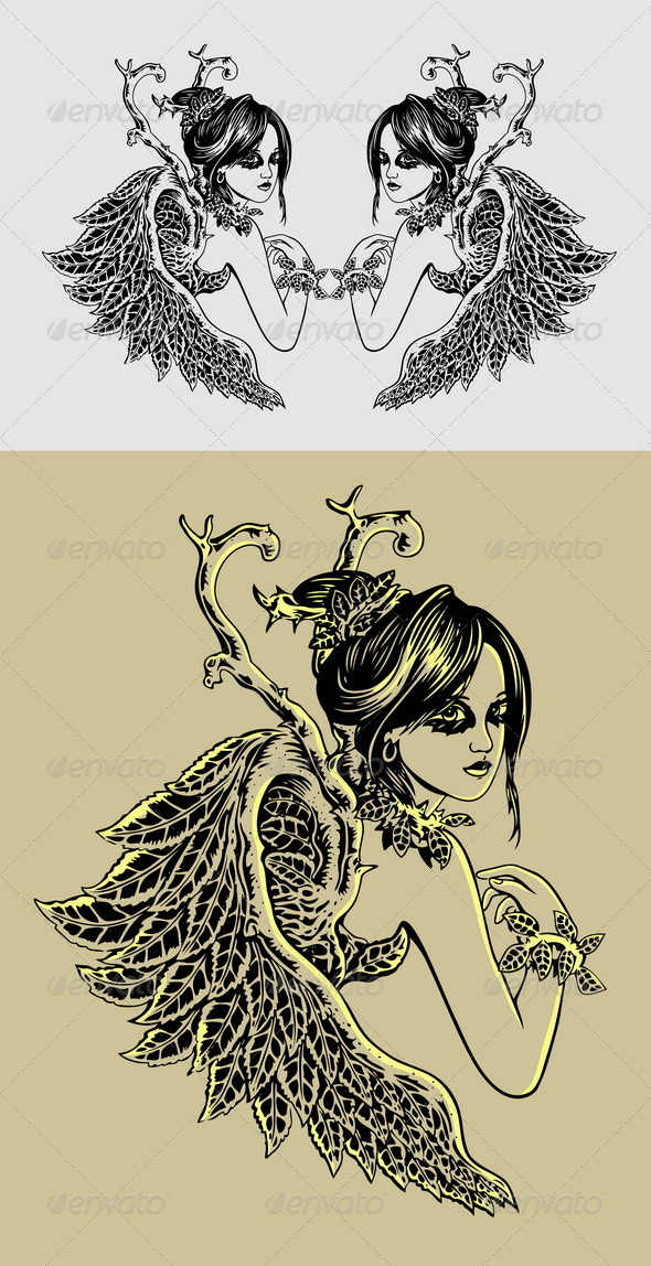 Angel Illustration - People Characters