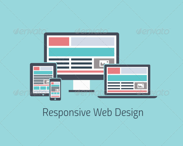 Responsive Web Design Development Flat - Web Technology