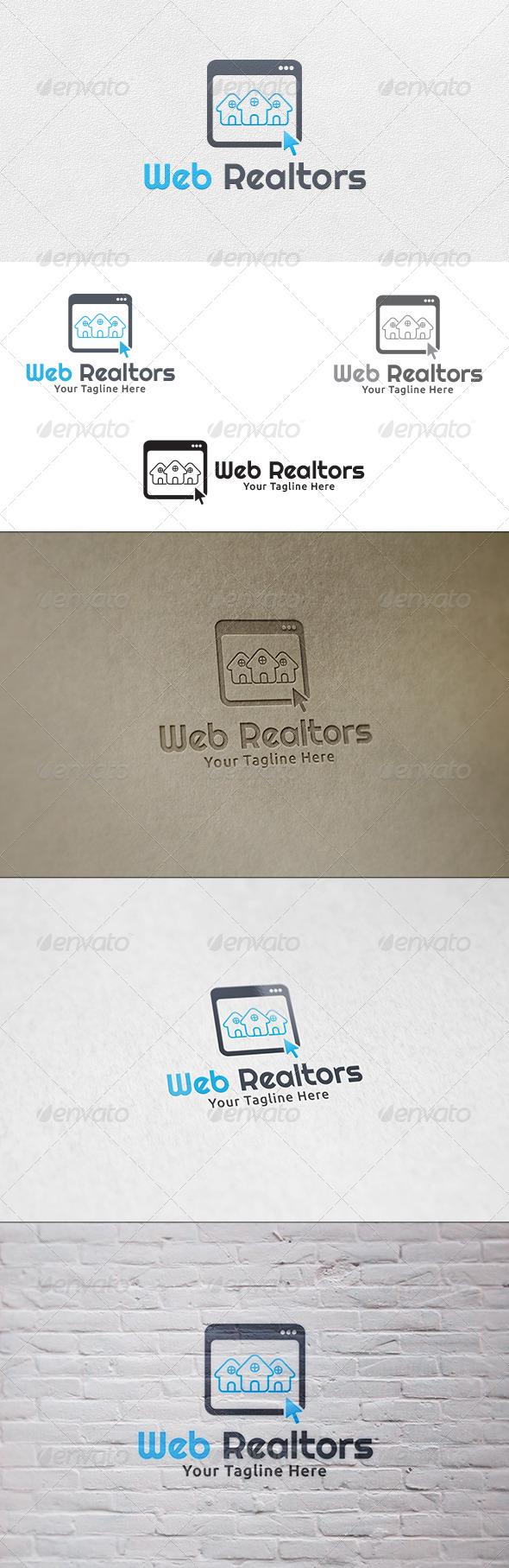 Web Realtors - Logo Template - Buildings Logo Templates