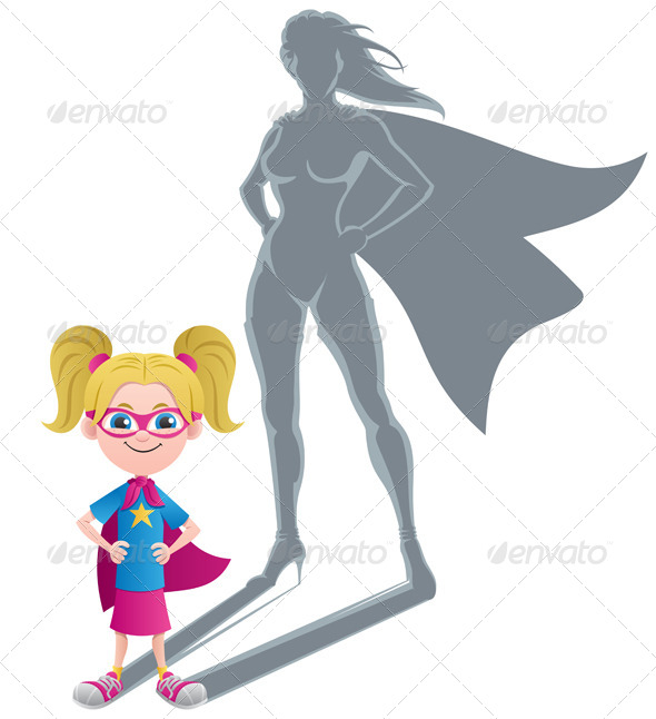 Girl Superheroine Concept - People Characters