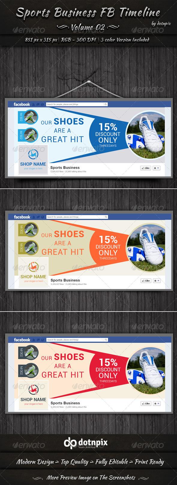 Sports Business FB Timeline | Volume 2 - Facebook Timeline Covers Social Media