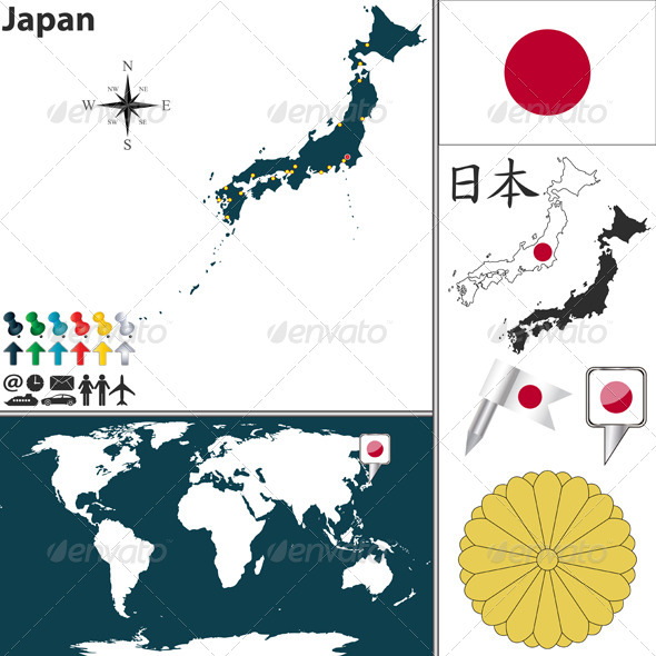 Map of Japan - Travel Conceptual