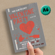 Valentine Party Flyer A6 - GraphicRiver Item for Sale