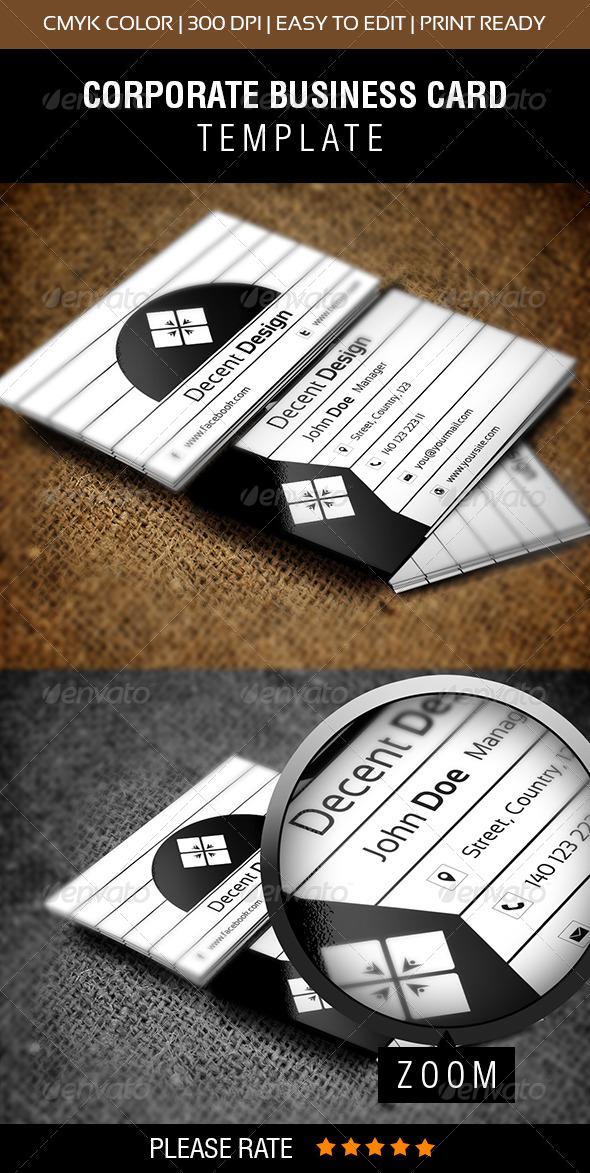 Decent Design Business Card - Corporate Business Cards