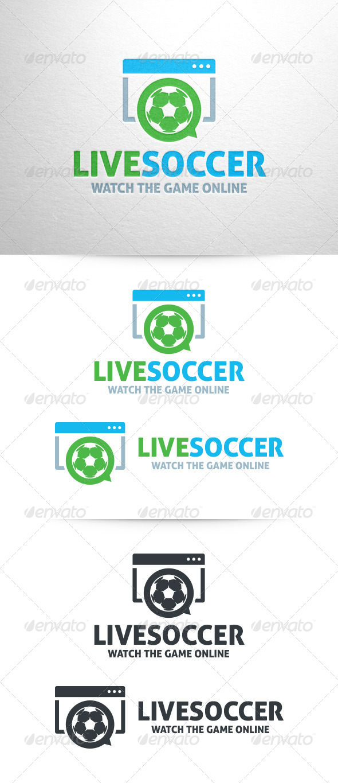Live Soccer Logo Template - Symbols Logo Templates