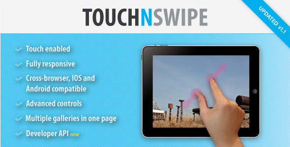 Touch N Swipe Image Gallery - CodeCanyon Item for Sale