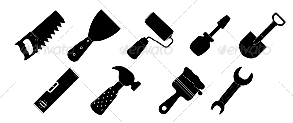 Different Tool Icons Set - Web Technology