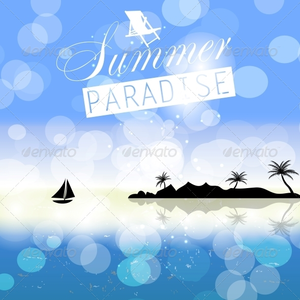 Summer Holidays Background - Web Technology