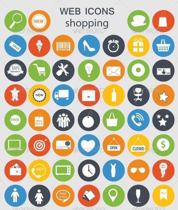 Shopping Icons - Web Technology