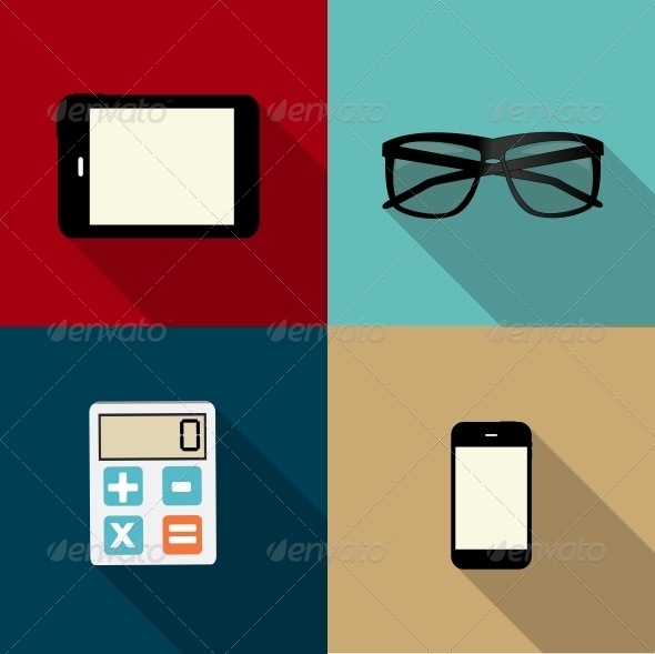 Square Icons - Web Technology