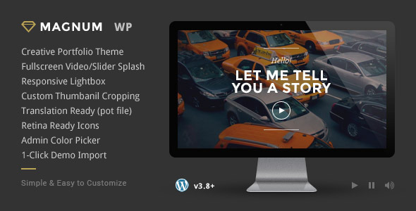 Magnum - Creative Portfolio WordPress Theme - Creative WordPress