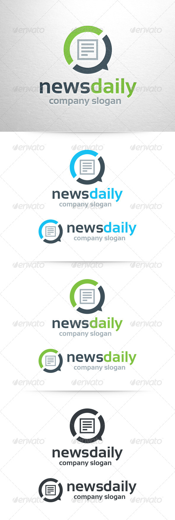 News Daily Logo Template - Symbols Logo Templates