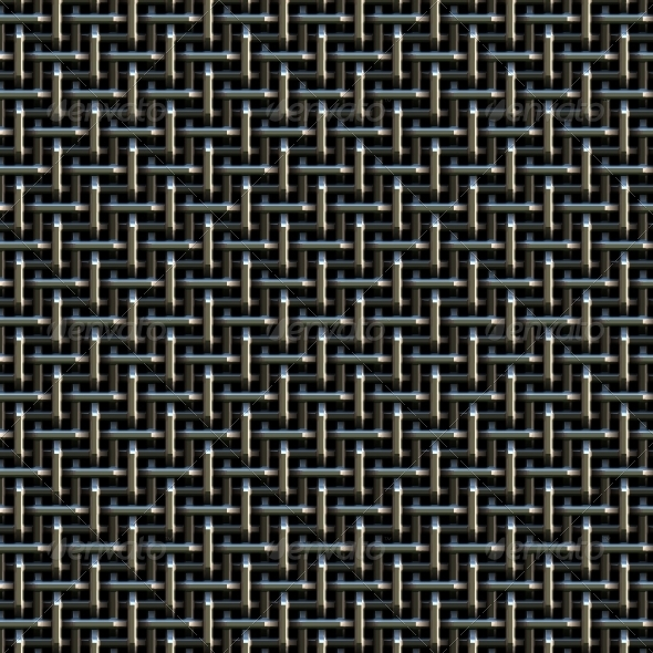 Abstract metal net  - Technology 3D Renders